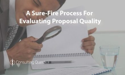 6 steps to evaluate the quality of Consulting Proposals