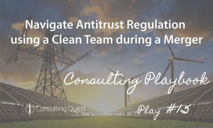 Consulting Playbook: Key Steps to Navigate Antitrust Regulation during a merger