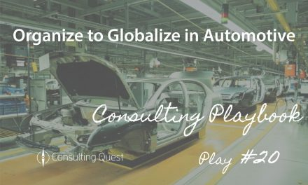 Consulting Playbook: Establishing New Organization to Meet Globalization's New Challenges