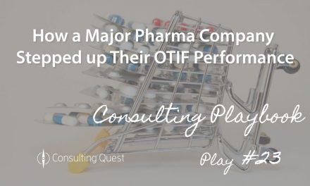Consulting Playbook: State-of-the-Art Techniques to fix Supply Chain in Pharmaceuticals