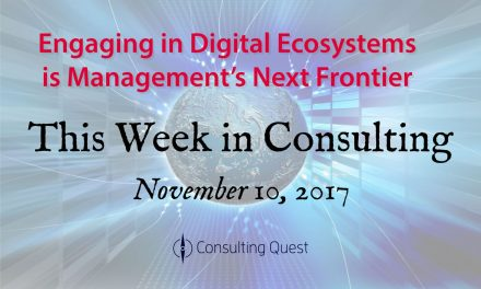 This Week in Consulting: Making the Most of the Ecosystem Economy