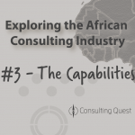 The African Consulting Market is focused on Strategy and Human Capital