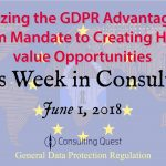 "This Week in Consulting -Special Edition- ""GDPR: A Challenge And An Opportunity"""