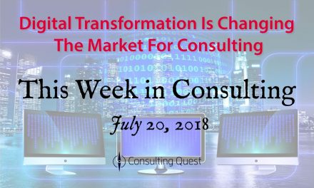 This Week in Consulting: Consulting 4.0 – The Future of Management Consulting is Digital