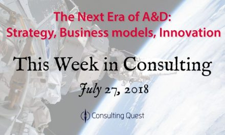 This Week in Consulting: Disruptive Innovation in Aerospace and Defense