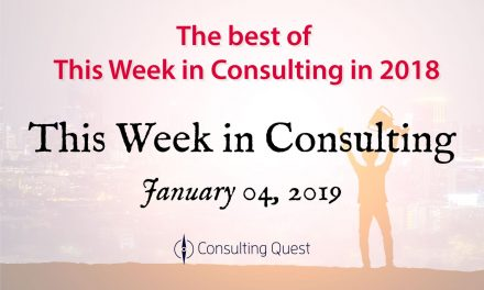 This Week in Consulting: The best of This Week in Consulting in 2018