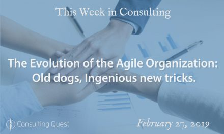 This Week in Consulting: The Evolution of the Agile Organization