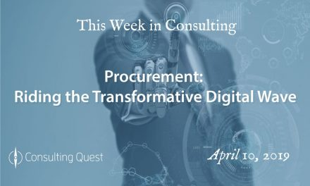 This Week in Consulting: Procurement-Riding the Transformative Digital Wave