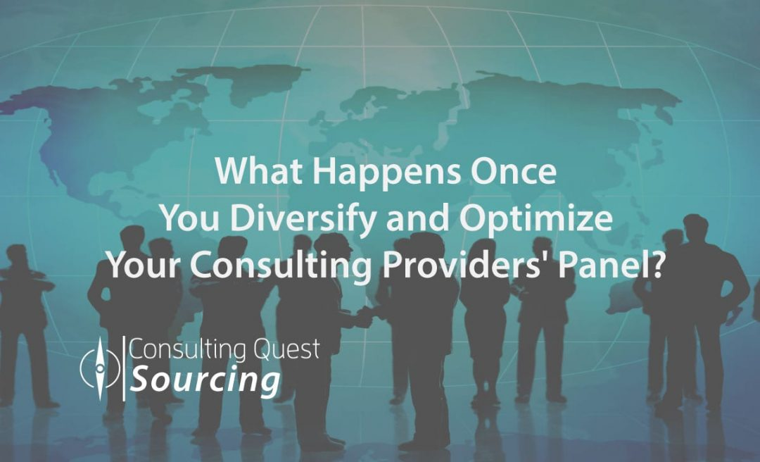 What Happens Once You Diversify and Optimize Your Consulting Providers' Panel?