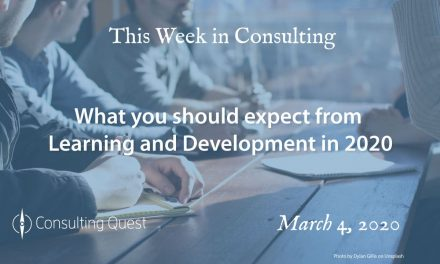 This Week in Consulting: What you should expect from Learning and Development in 2020