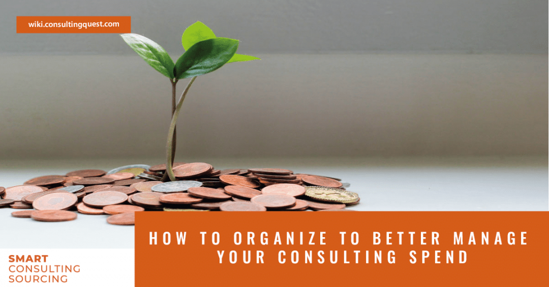 How to organize to better manage your Consulting Spend