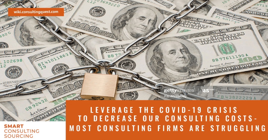 Leverage the Covid-19 crisis to decrease your consulting costs