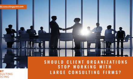 Should client organizations stop working with large consulting firms?
