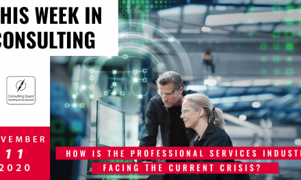 This Week In Consulting: How is the Professional Services Industry facing the current crisis?