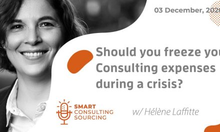 Podcast | Should you freeze your Consulting expenses during a crisis?