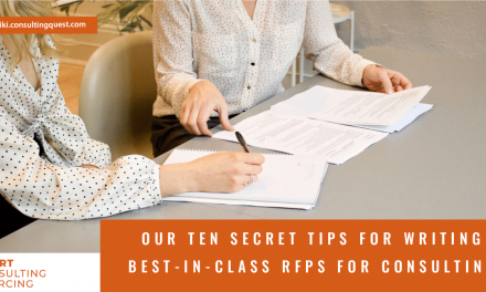 Our ten secret tips for writing best-in-class RFPs for Consulting