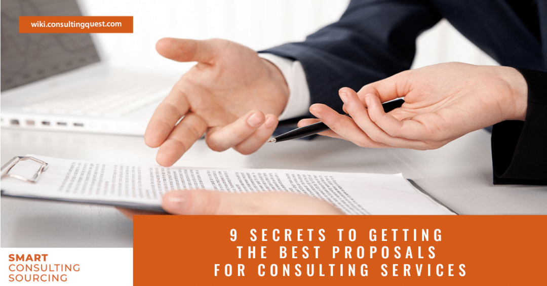 9 secrets to getting the best proposals for consulting services
