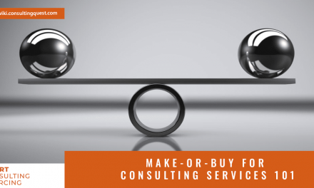 Make-or-buy for consulting services 101