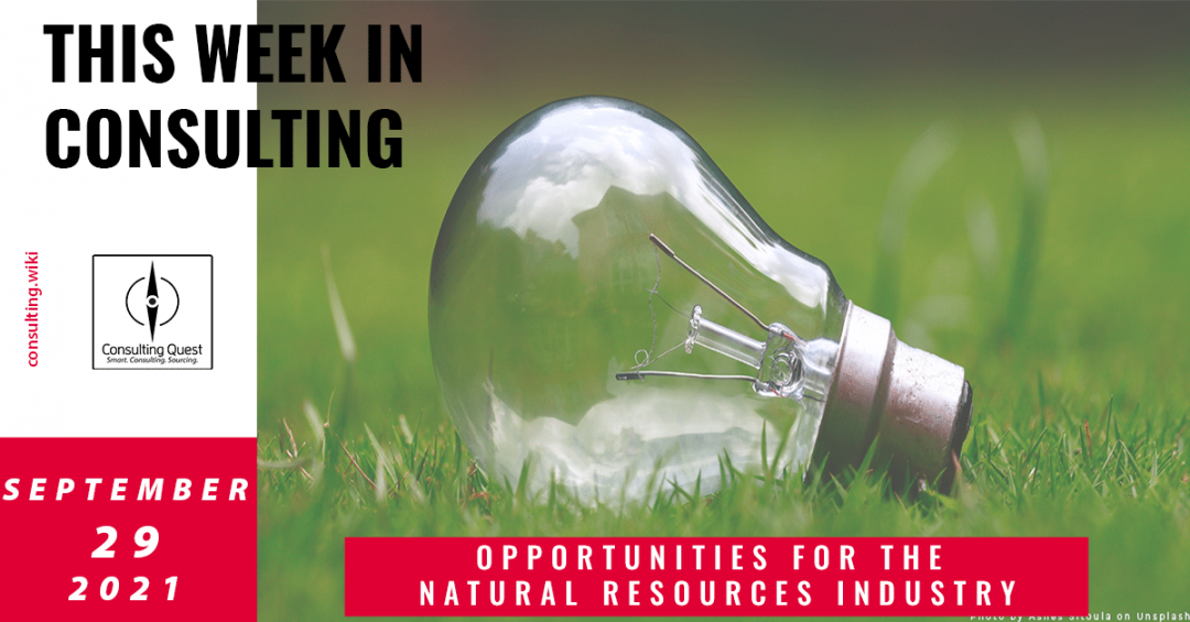 This Week In Consulting: Opportunities for the natural resources industry